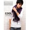 ผ้าพันคอผู้ชาย Man scarf ผ้าพันคอชีมัค Shemagh : สีม่วง size 100 x 100 cm