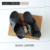 * NEW * FitFlop : Lulu Cross Slide : Black : Size US 6 / EU 37