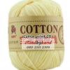 ไหมพรม Cotton 100% รหัสสี 20 Light Yellow