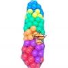UT-5917 ลูกบอลพลาสติก หลากสี 100 ลูก สีขุ่น