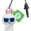 """""""พร้อมส่ง""""นำเข้าจากญี่ปุ่น 100% LINE Pluggy จุกปิดกันฝุ่นแบบมีตุ๊กตาห้อย -Conyใส่แว่น"""