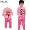 ชุดนอนเด็ก Caluby ลาย Minnie Mouse (สีชมพู)(นุ่มสบายจ้า) 2Y-7Y