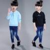 pr1037 เสื้อยืดแขนยาว เด็กโต size 140-160 3 ตัวต่อแพ็ค