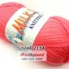 ไหมพรม Milk Soly4ply สีพื้น รหัสสี 2134 สีชมพูโอโรส