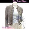 แบบสาวเกาหลี ฮิตตามให้ทันBlazerตัวโปรด TB665:Hiso Tweed Blazer:เสื้อคลุมเบลเซอร์ผ้าทวีตดีไซน์สวยได้ลุคเก๋สุดๆแต่งกระดุมสไตล์มิลิทารี