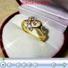 แหวนเพชรหัวใจ ทอง2microns