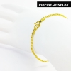Inspire Jewelry สร้อยข้อมือทอง น้ำหนัก 3กรัม งานทองไมครอน ชุบเศษทองคำแท้ ยาว 16x0.2cm., 17x0.2cm./ Inspire Jewelry brand Gold bracelet, weight 3 grams, gold plated gold, plated gold plated, 16x0.2cm., 17x0.2cm.