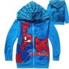 เสื้อกันหนาวเด็ก ลาย Spider man สไปเดอร์แมน สีฟ้า 95 100 110 120 130 140