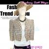 ลายผ้าBurberry TB672:Vintage Blazer:เสื้อคลุมวินเทจไหล่ตั้ง ลายสก๊อต ผ้าเนื้อดีทำให้มีทรง ดีไซน์สวย