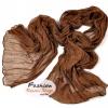 ผ้าพันคอแฟชั่นเกาหลีสีพื้น Hot Basic : สีน้ำตาล CK0404