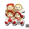 TY-5037 ตุ๊กตาครอบครัว (ชุดละ 4 ตัว)
