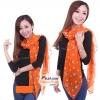 ผ้าพันคอแฟชั่น ลายลิง Paul Frank : สีส้ม CK0423