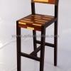 เก้าอี้บาร์ลายปาร์เก้ CBR-03
