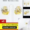 Inspire Jewelry ,microns gold 24k Gold Plated Earrings ,ต่างหูรูปใบมะกอกฝังเพชร แบบร้านเพชร งานจิวเวลลี่ ทองไมครอน หุ้มทองแท้ 100% 24K สวยหรู ขนาด 1.2cmx1.2cm.