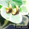 INSPIRE JEWELRY ต่างหูห่วงทองเนื้อมันเงา วงในขนาด 1x1.3cm งานปราณีตแบบร้านทอง สวยงาม น่ารัก ใส่ถอดง่าย ใส่ได้กับเสื้อผ้าชุดแบบ ของขวัญวันเกิด วันแม่ ปีใหม่ วาเลนไทน์