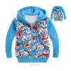 เสื้อกันหนาวเด็ก ผ้าหนา ลาย โดเรมอน ฟ้า มีไซส์ 95