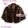 สไตล์สาวเกาหลี TB600 :Gorgeous Fur Trend:เสื้อคลุมเฟอร์ปีกค้างคาวสุดหรูเพิ่มความหรูที่ชาย ลุคสาวเกาหลี ด้านในซับอย่างดีด้วยซาติน สีน้ำตาลคลาสสิก