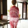 ผ้าพันคอลายกวาง Deer Scarf : สีแดง ผ้า viscose size 180x80 cm