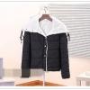 """""""พร้อมส่ง""""เสื้อผ้าแฟชั่นสไตล์เกาหลีราคาถูก เสื้อกันหนาวแบบนวม ด้านในบุขน กระดุมหน้า รูดเชือกที่คอ กระเป๋า 2ข้าง ใส่แล้วอุ่นค่ะ -สีดำ"""