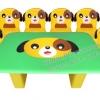 EVF-32 ชุดโต๊ะเก้าอี้ครอบครัวสุนัข