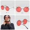 ASOS Metal 90s Round Sunglasses With Red Coloured Lens