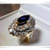 แหวนไพลินล้อมเพชร