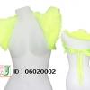 ผ้าคลุมไหล่ขนสัตว์เทียมสีเขียวมะนาว