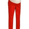 กางเกงคนท้องขายาว Oldnavy Maternty Low-Panel Skinny สีแดง