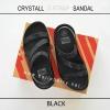 * NEW * FitFlop CRYSTALL Z-STRAP Sandal : Black : Size US 6 / EU 37