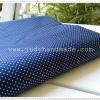 ผ้าค๊อตต้อนสีกรมท่าลายจุดไข่ปลา จุดขาว ขนาด55x50ซม