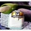 แหวนเพชรหน้าซาติน/gold plated 5microns/white gold plated