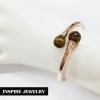 Inspire Jewelry ,กำไลหินไทเกอร์อาย หินตาเสือ ตัวเรือนหุ้มทองชมพูแท้ 100% 24K ฟรีไซด์ นำโชค เสริมดวง โชคลาภ พร้อมถุงกำมะหยี่