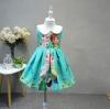ชุดกระโปรงผ้าพิมพ์ลาย แต่งคอบัว เจ้าหญิงเอลซ่า-อันนา ผ้าดีงานสวยมากค่ะ