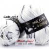 ไหมพรม Milk Cotton สีเหลือบ รหัสสี M34