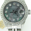Ladies Rolex Stainless Steel Datejust Date Watch Tahitian MOP Diamond GENUINE ROLEX