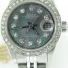 Ladies Rolex Stainless Steel Datejust Date Watch Tahitian MOP Diamond GENUINE ROLEX