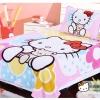 ผ้าห่มนาโน เกรด A Kitty อุ้มหมี 4
