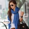 ผ้าพันคอแฟชั่นเกาหลีสีพื้น Hot Basic : สีฟ้า CK0148