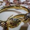 กำไลหางช้างลงยา หัวบัว gold plated,silver plated,pink gold plated,white gold plated