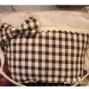 กระเป๋าสะพายเล็กลายสก๊อตน้ำตาลแต่งโบว์(สายปรับไม่ได้ค่ะ)