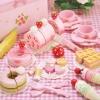 ชุดสตรอเบอร์รี่ไอศครีมและเบเกอรี่ ของ Mother Garden (Mother Garden Strawberry Sweet Cafe Playset)
