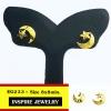 INSPIRE JEWELRY ต่างหูดาวเดือน ขนาด 8x8mm.น่ารักมาก งานแบบร้านทอง หุ้มทองแท้ 24K 100%