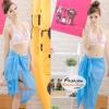 ผ้าคลุมชายหาด Hot Basic : สีฟ้า AB0005