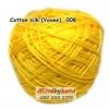 ไหมคอตตอลซิล (ไหมยาวี) รหัสสี 008 สีเหลืองสด