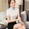 เสื้อเชิ้ตทำงานแขนสั้น สีขาว เป็นชุดยูนิฟอร์ม ชุดพนักงานออฟฟิต