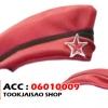 หมวกทหารแดงคาดดำ