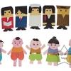 SKK-07 หุ่นนิ้ว ชุดอาชีพและชุดเด็กไทย