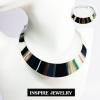 INSPIRE JEWELRY โชคเกอร์คอสีเงินวาว สวยงาม เหมาะกับการใส่โชว์