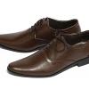 รองเท้าผู้ชาย | รองเท้าแฟชั่นชาย Brown Cut Shoes หนังวัวแท้ ขัดเงา