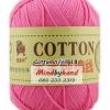 ไหมพรม Cotton 100% รหัสสี 18 Powder